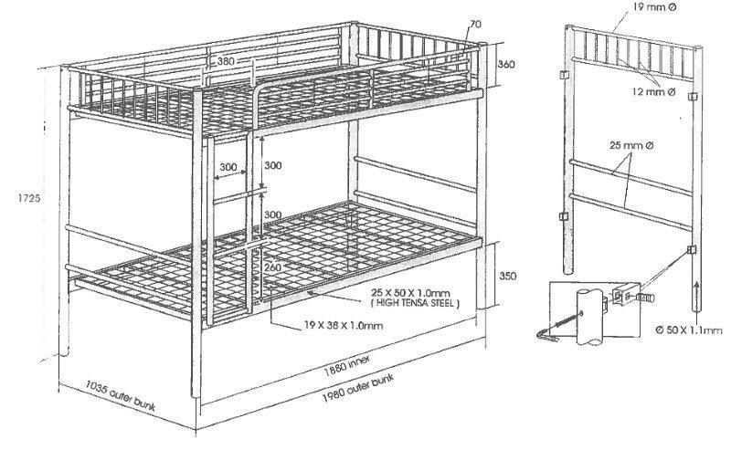 Full size bed measurements - Freight Is Free To Main Centres Please Check When Ordering For Your
